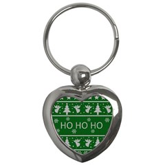 Ugly Christmas Sweater Key Chains (heart)  by Valentinaart
