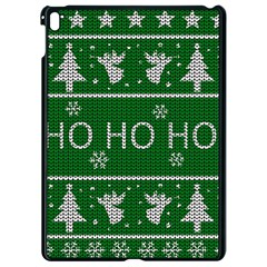 Ugly Christmas Sweater Apple Ipad Pro 9 7   Black Seamless Case