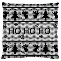 Ugly Christmas Sweater Large Cushion Case (two Sides) by Valentinaart