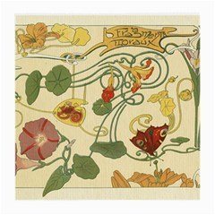 Floral Art Nouveau Medium Glasses Cloth by 8fugoso