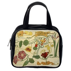 Floral Art Nouveau Classic Handbags (one Side) by 8fugoso