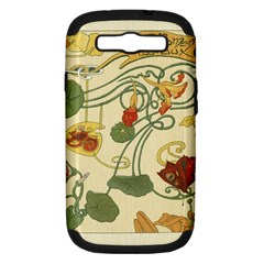 Floral Art Nouveau Samsung Galaxy S Iii Hardshell Case (pc+silicone) by 8fugoso