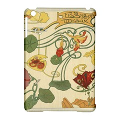 Floral Art Nouveau Apple Ipad Mini Hardshell Case (compatible With Smart Cover) by 8fugoso