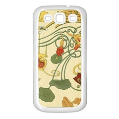 Floral Art Nouveau Samsung Galaxy S3 Back Case (white) by 8fugoso