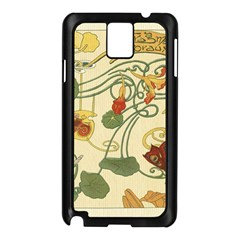 Floral Art Nouveau Samsung Galaxy Note 3 N9005 Case (black) by 8fugoso