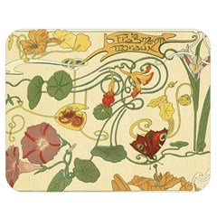Floral Art Nouveau Double Sided Flano Blanket (medium)  by 8fugoso