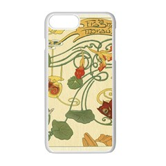 Floral Art Nouveau Apple Iphone 7 Plus Seamless Case (white) by 8fugoso