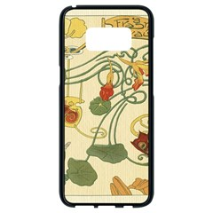 Floral Art Nouveau Samsung Galaxy S8 Black Seamless Case by 8fugoso