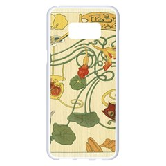 Floral Art Nouveau Samsung Galaxy S8 Plus White Seamless Case by 8fugoso
