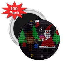 Ugly Christmas Sweater 2 25  Magnets (100 Pack)  by Valentinaart