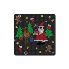 Ugly Christmas Sweater Square Magnet by Valentinaart