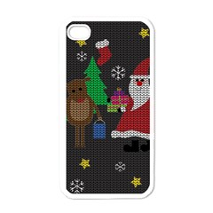 Ugly Christmas Sweater Apple Iphone 4 Case (white)