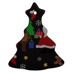 Ugly Christmas Sweater Ornament (christmas Tree)  by Valentinaart