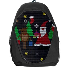 Ugly Christmas Sweater Backpack Bag by Valentinaart