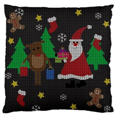 Ugly Christmas Sweater Standard Flano Cushion Case (two Sides) by Valentinaart