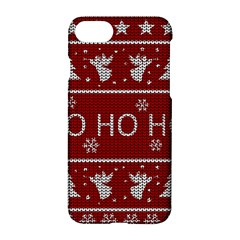 Ugly Christmas Sweater Apple Iphone 7 Hardshell Case by Valentinaart