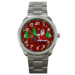 Ugly Christmas Sweater Sport Metal Watch