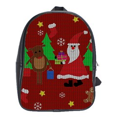 Ugly Christmas Sweater School Bag (large) by Valentinaart