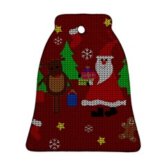 Ugly Christmas Sweater Bell Ornament (two Sides)