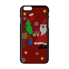 Ugly Christmas Sweater Apple Iphone 6/6s Black Enamel Case by Valentinaart