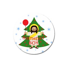 Jesus   Christmas Magnet 3  (round) by Valentinaart