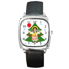 Jesus   Christmas Square Metal Watch by Valentinaart