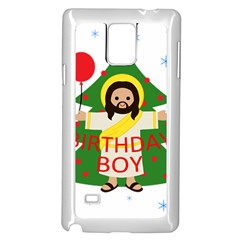 Jesus   Christmas Samsung Galaxy Note 4 Case (white) by Valentinaart