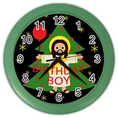 Jesus   Christmas Color Wall Clocks by Valentinaart
