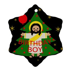 Jesus   Christmas Snowflake Ornament (two Sides)