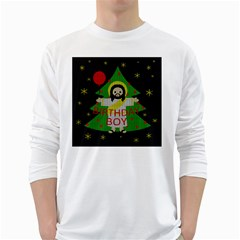 Jesus   Christmas White Long Sleeve T Shirts by Valentinaart