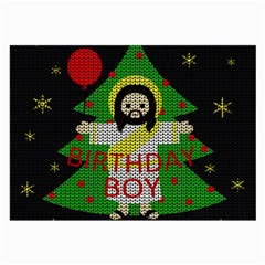 Jesus   Christmas Large Glasses Cloth by Valentinaart