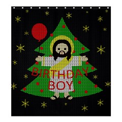 Jesus   Christmas Shower Curtain 66  X 72  (large)  by Valentinaart