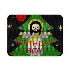 Jesus   Christmas Double Sided Flano Blanket (mini)  by Valentinaart