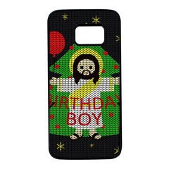 Jesus   Christmas Samsung Galaxy S7 Black Seamless Case by Valentinaart