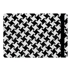 Houndstooth2 Black Marble & White Leather Apple Ipad Pro 10 5   Flip Case by trendistuff