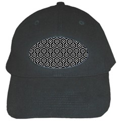 Hexagon1 Black Marble & White Leather (r) Black Cap by trendistuff