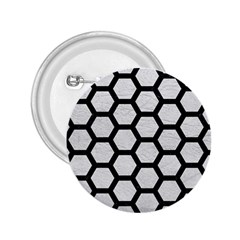 Hexagon2 Black Marble & White Leather 2 25  Buttons by trendistuff