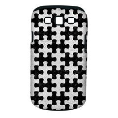 Puzzle1 Black Marble & White Leather Samsung Galaxy S Iii Classic Hardshell Case (pc+silicone)