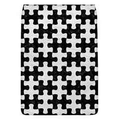 Puzzle1 Black Marble & White Leather Flap Covers (l)  by trendistuff