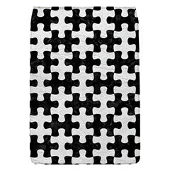 Puzzle1 Black Marble & White Leather Flap Covers (s)  by trendistuff