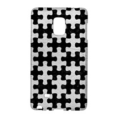 Puzzle1 Black Marble & White Leather Galaxy Note Edge by trendistuff