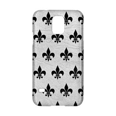 Royal1 Black Marble & White Leather (r) Samsung Galaxy S5 Hardshell Case  by trendistuff