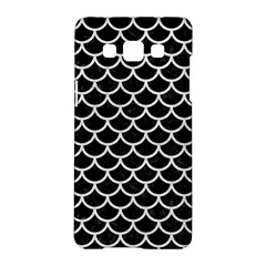 Scales1 Black Marble & White Leather (r) Samsung Galaxy A5 Hardshell Case  by trendistuff