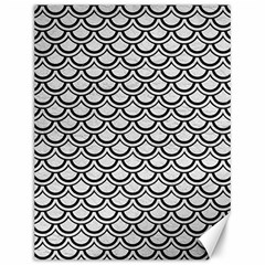 Scales2 Black Marble & White Leather Canvas 12  X 16   by trendistuff