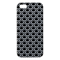 Scales2 Black Marble & White Leather (r) Apple Iphone 5 Premium Hardshell Case by trendistuff