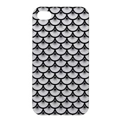 Scales3 Black Marble & White Leather Apple Iphone 4/4s Hardshell Case by trendistuff