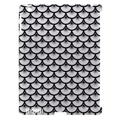 Scales3 Black Marble & White Leather Apple Ipad 3/4 Hardshell Case (compatible With Smart Cover) by trendistuff