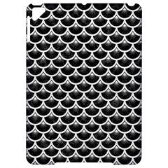 Scales3 Black Marble & White Leather (r) Apple Ipad Pro 9 7   Hardshell Case by trendistuff