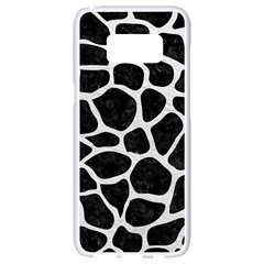Skin1 Black Marble & White Leather Samsung Galaxy S8 White Seamless Case by trendistuff