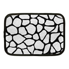 Skin1 Black Marble & White Leather (r) Netbook Case (medium)  by trendistuff